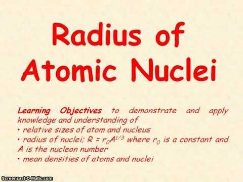 Nuclear Physics 02 - Radius of Atomic Nuclei
