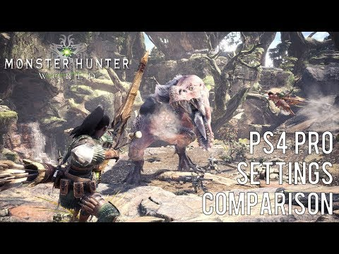 Monster Hunter World - PS4 Pro Enhanced Graphics Comparison