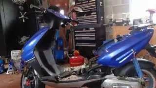 vento triton tear down start 49cc scooter part 2 of 6