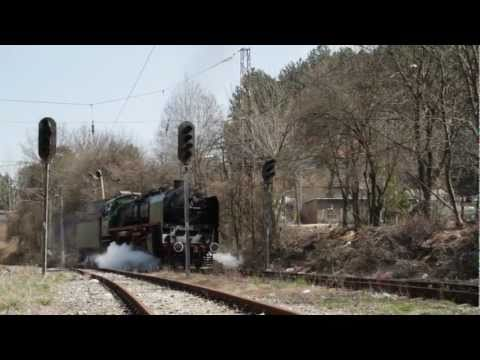 Bulgarian State Railways Class 05.01 locomotive shunting at Bankya Station, April 01, 2011