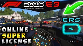 F1 2018 E3 | Online Multiplayer Super License And New Features Revealed!