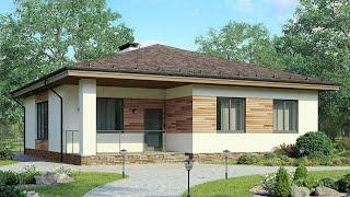 Проект дома в скандинавском стиле. Дом с сауной и террасой. Строительство домов Ремстройсервис М-267