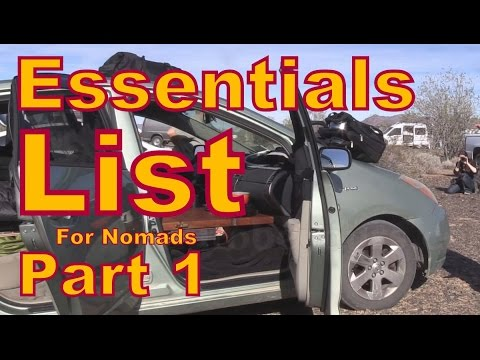 Essentials List for Living in a Vehicle