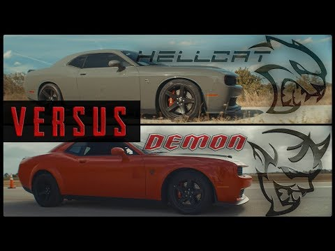 The Dodge Challenger Srt Demon Takes On The Srt Hellcat