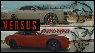 Dodge Demon vs. SRT Hellcat 12 Mile Drag Race Is the 840HP Challenger Worth The Price