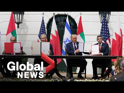 Trump Participates In Signing Ceremony For Historic Agreements Between Israel UAE And Bahrain | FULL