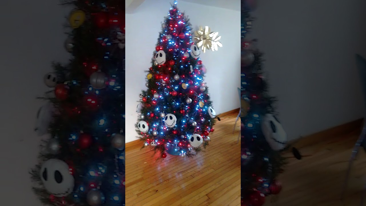 Nightmare before Christmas tree - YouTube