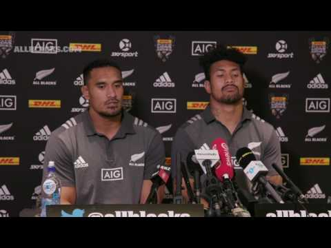 All Blacks media conference with Jerome Kaino and Ardie Savea