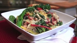 Tuscan Chicken Pasta With Lemon-garlic Broccoli Rabe Recipe - Dinner Boot Camp - Episode 7