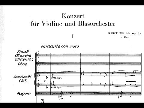 Kurt Weill - Violin Concerto, Op. 12 (1924) Mp3