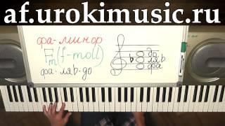vse.urokimusic.ru Аккорд fm. фа минор. f-moll. Уроки фортепиано, синтезатора, пианино, обучение.