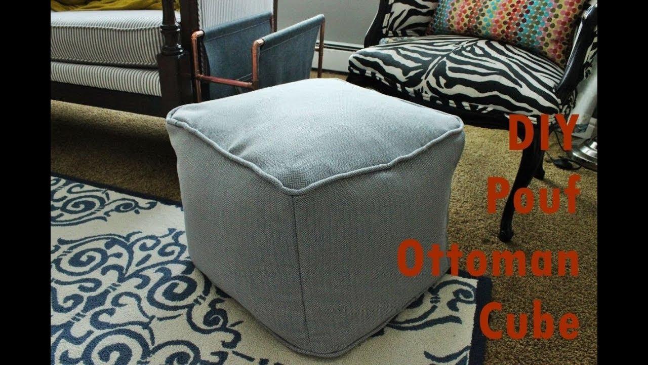 diy pouf ottoman cube