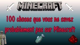 100 choses que vous ne savez probablement pas sur Minecraft |FR HD|