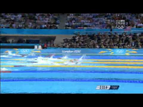 Womens 4x100 Freestyle Final - London 2012 Olympic Games - Day 1