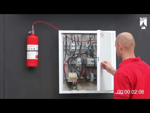 BlazeCut Electrical Cabinet C Series Fire Suppression System