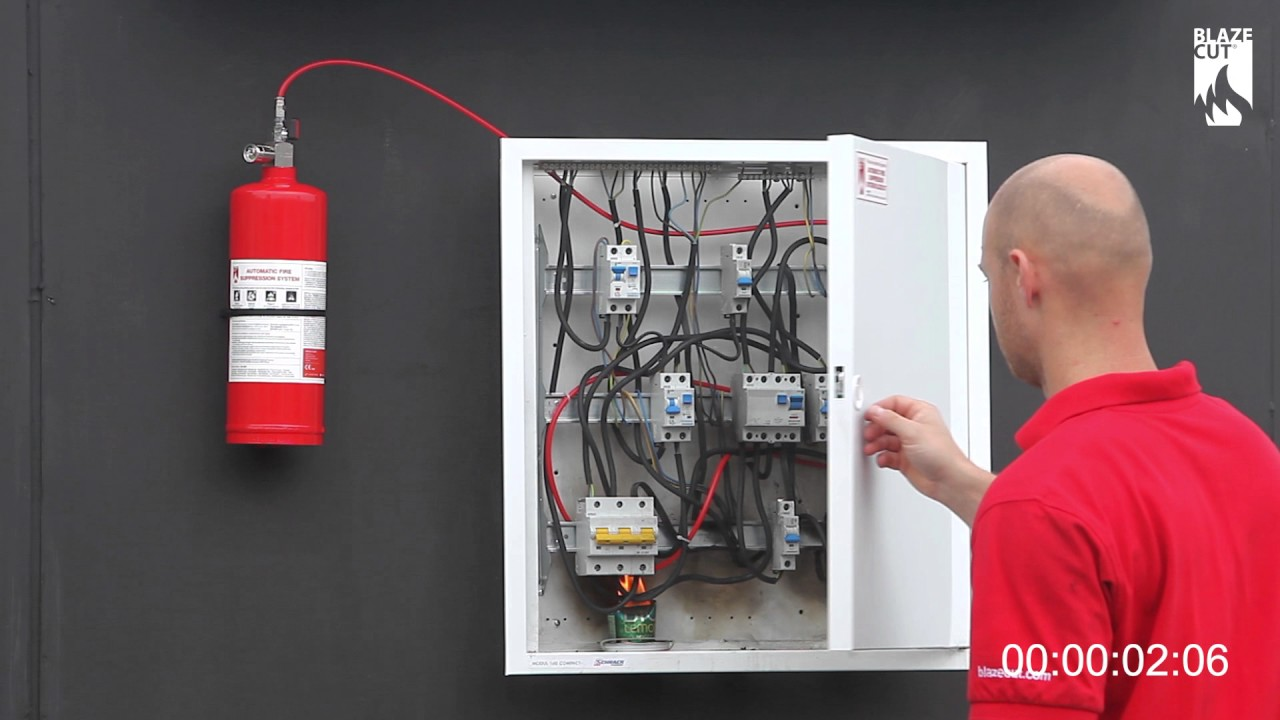 Blazecut Electrical Cabinet C Series Fire Suppression System Youtube Wiring Fires
