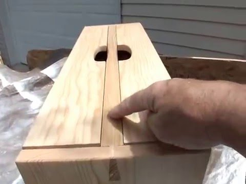 Wonderful portable wooden tool box - YouTube CD68