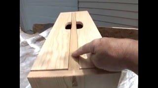Portable wooden tool box