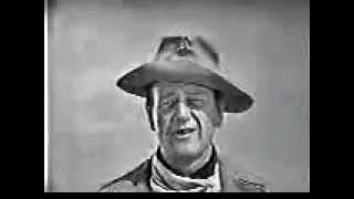 John Wayne telling you about the Alamo and the republic of Texas