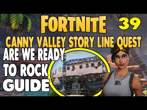 Fortnite Save The World │Canny Valley Story Mission │Are We Ready To Rock │Mission 39