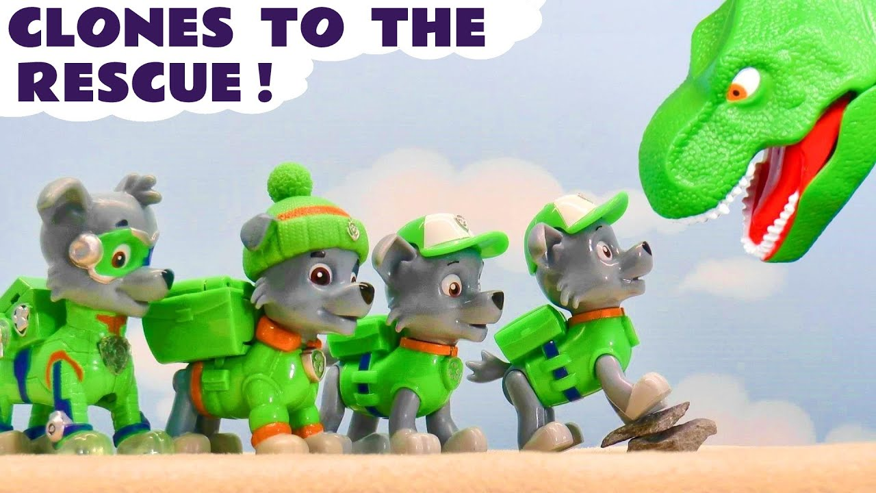 Paw Patrol Dino Rescue with Mighty Pups Rocky Clones and the Funlings