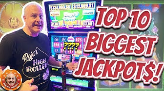 💥TOP 10 BIGGEST JACKPOTS OF MY LIFE! 💥October 2019 COMPILATION