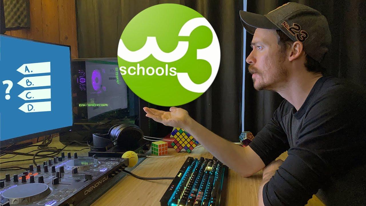 Taking The W3 Schools JavaScript Quiz