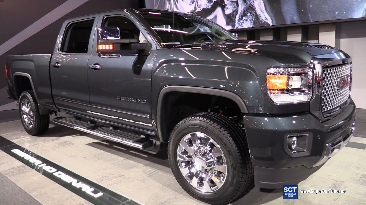 2017 gmc sierra hd denali exterior and interior walkaround 2016 la auto show youtube. Black Bedroom Furniture Sets. Home Design Ideas