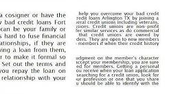 How to Get Bad Credit Loans in Fort Worth TX -  D818 Consulting