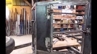 fabrication artisanale d'1 remorque de chasse  dogs trailer