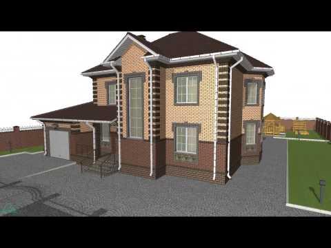 Проект вместительного двухэтажного дома с гаражом D-051-ТП