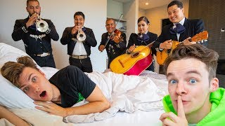 HIRING A MARIACHI BAND TO FOLLOW THEM for 24hrs