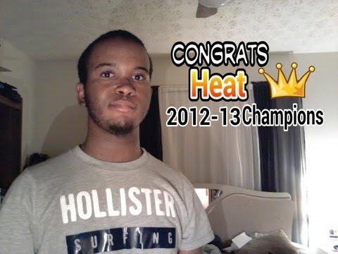 Congrats to Miami Heat 2012-13 Champs