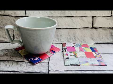 #MakeitMonday | Recycled Magazine Coaster
