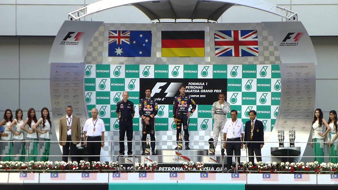 The Podium Of Formula 1 PETRONAS MALAYSIA GRAND PRIX 2013