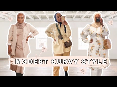 MODEST SPRING OUTFITS & STYLE TIPS FOR CURVES   Aysha Harun - YouTube