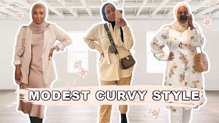 MODEST SPRING OUTFITS & STYLE TIPS FOR CURVES | Aysha Harun