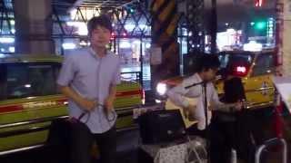 2014/08/28 @上野不忍口 Vo.佐藤誠士(ex.ala) Gu.&Cho.重信貴俊(he)
