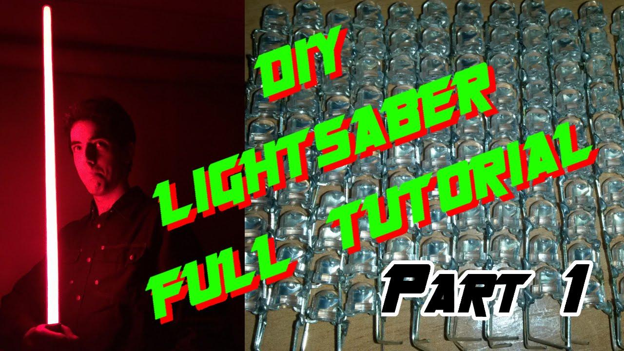 Diy lightsaber full tutorial led string edition part 1 youtube solutioingenieria Gallery