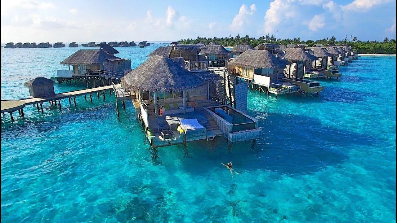 Malediven (Maldives) 💙 Six Senses Laamu 💦🌴🐠🌺 Drohnen Aufnahmen (Drone  Shots) 💙