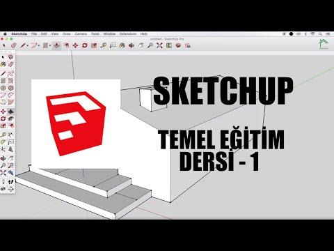 SketchUp Temel Eğitim Dersleri - 1