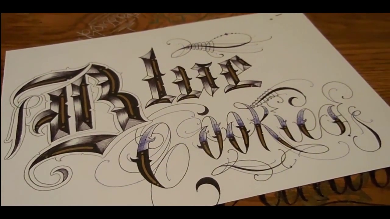 Calligraphy Old English Lettering Youtube