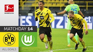 Sancho scores! Borussia Dortmund - VfL Wolfsburg | 2-0 | All Goals | Matchday 14 – Bundesliga