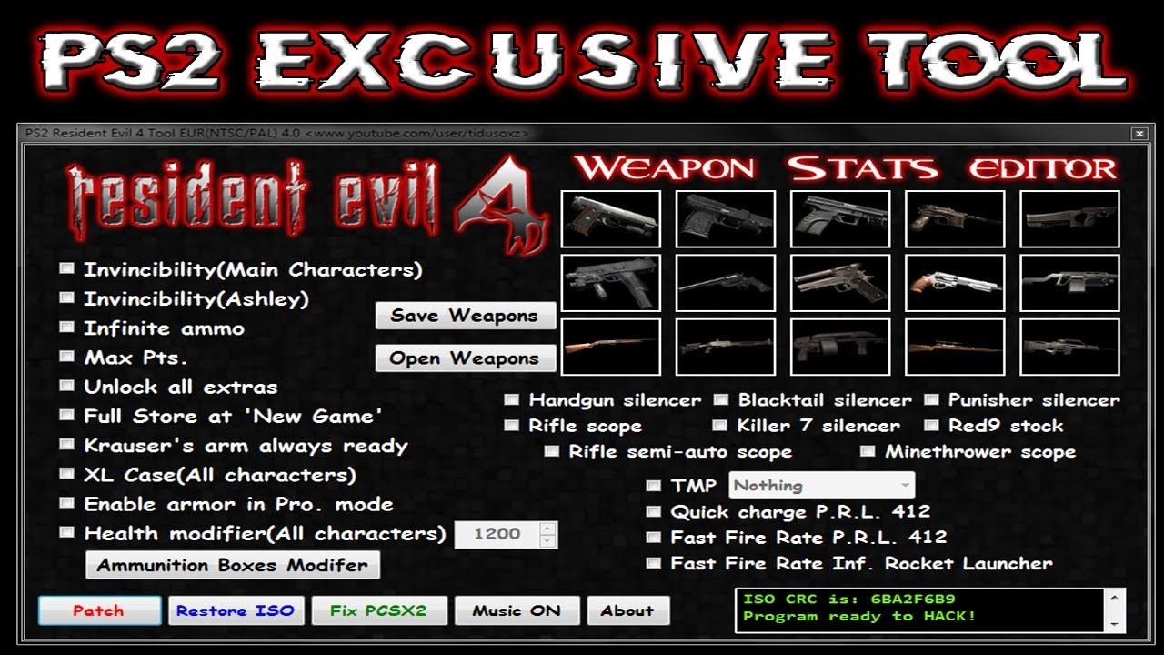 Ps2 Resident Evil 4 Cheats Youtube