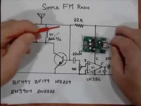 making a simple fm radio youtube FM Receiver Circuit Diagram making a simple fm radio