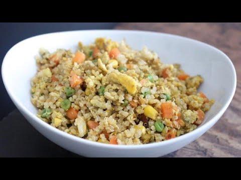 Quinoa Egg Fried Rice | How To Make Quinoa Fried Rice | Quinoa Recipes | Egg Fried Quinoa
