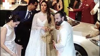Karishma Kapoor, Kareena Kapoor, Saif Ali Khan Arrives At Isha Ambani's Wedding Reception