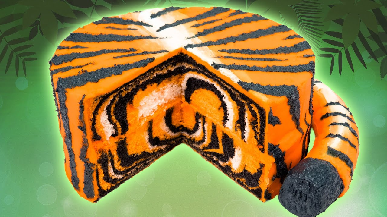 How To Make A Tiger Cake From Cookies Cupcakes And Cardio Youtube
