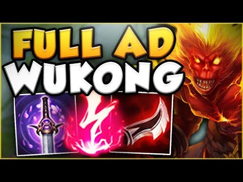 WTF?! THIS IS BANANAS! NEW FULL AD WUKONG IS SO LETHAL! WUKONG SEASON 8 GAMEPLAY - League of Legends