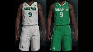 Nigeria Basketball 2016 Olympics Jersey